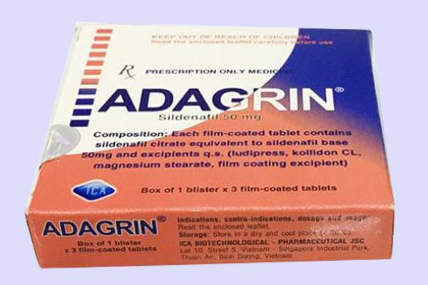 Tác dụng của thuốc rối loạn cương dương Adagrin trong bao lâu?