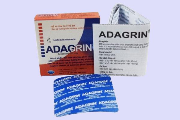 Tác dụng của Adagrin 50mg