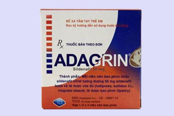 Adagrin có tác dụng gì có hại cho sức khỏe không?