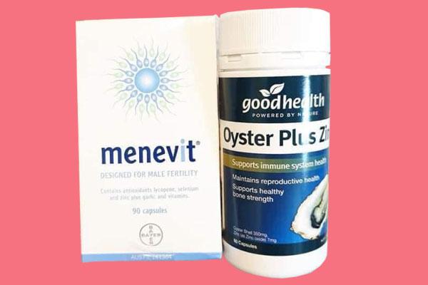 Nên uống Menevit hay tinh chất hàu?