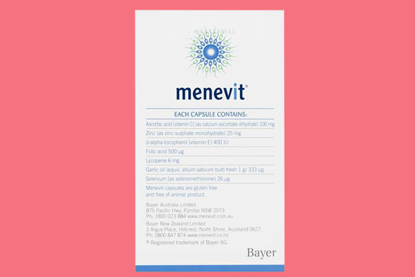 Uống Menevit khi nào?