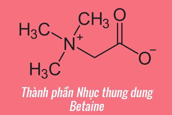 Thành phần của Nhục thung dung: Betaine