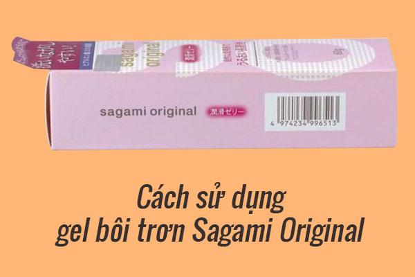 Cách dùng gel bôi trơn Sagami Original