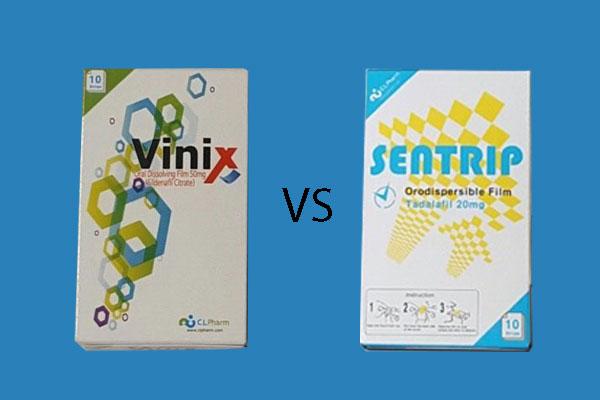 So sánh viên ngậm Vinix và Sentrip