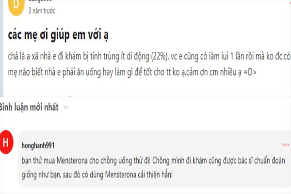 Mensterona trên webtretho