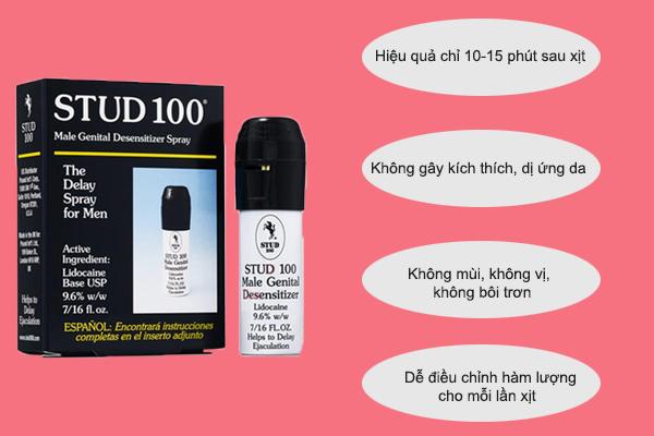 Ưu điểm của thuốc xịt Stud 100