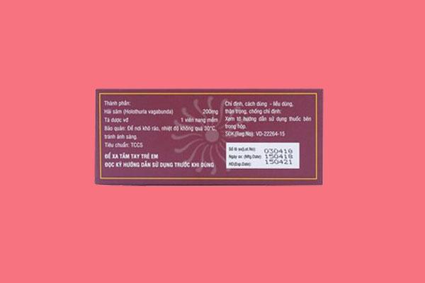 Thông tin trên bao bì Haisamin