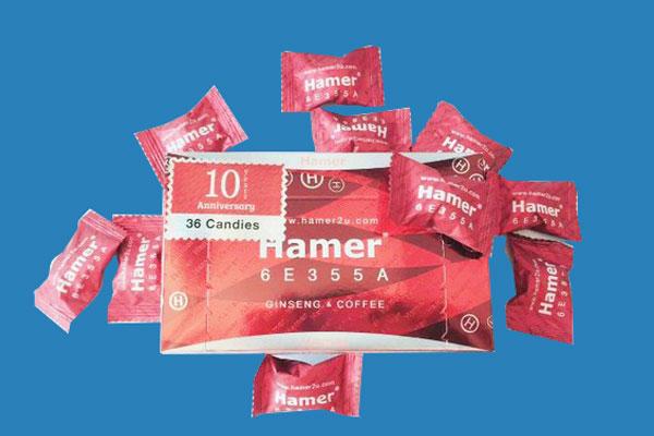 Thành phần của kẹo sâm Hamer