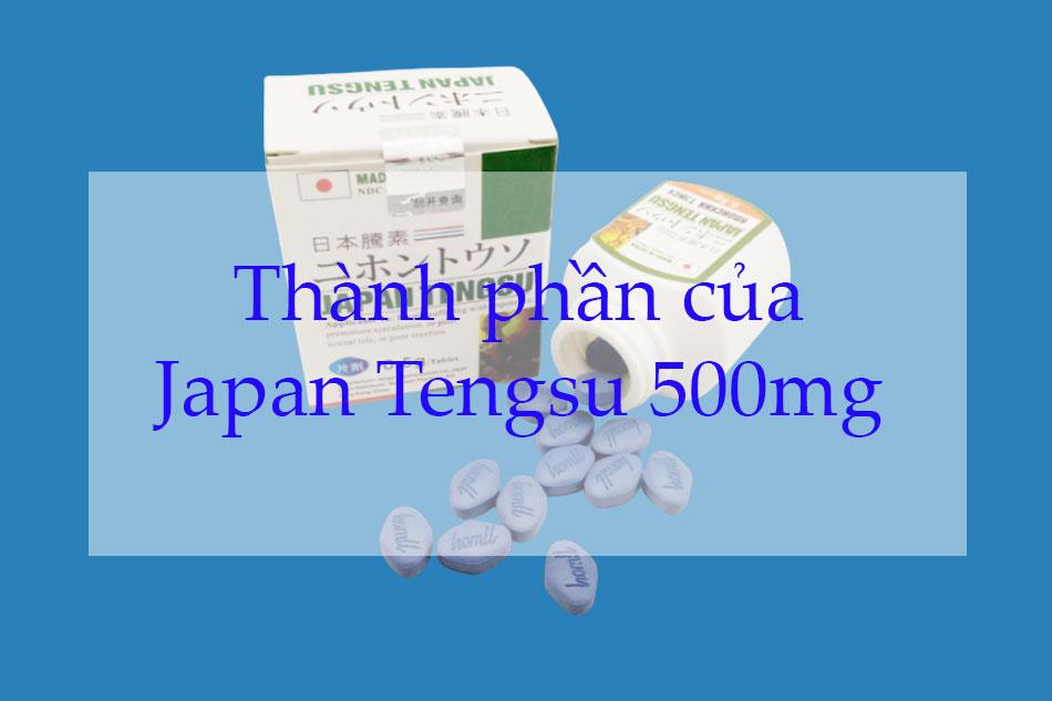 Japan Tengsu 500mg chứa những thành phần gì?